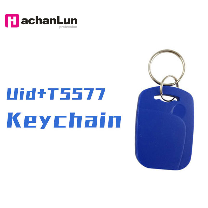 100PCS RFID Dual-chip Smart Compound Card 125KHZ + 13.56MHZ Can Repeatedly Erase And Copy NFC Access Control Keychain