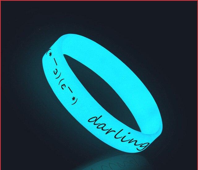Силиконовые светящиеся браслеты 3