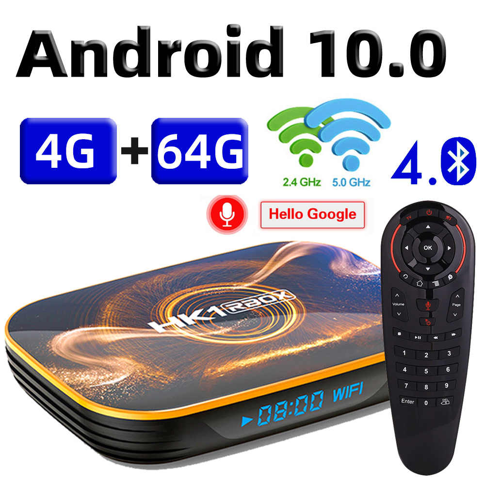 2020 Android 10 TV Box 4GB 64GB Tvbox Android 10.0 Smart TV Box Rockchip RK3318 4K 60fps USB3.0 Google Play Netflix YouTube