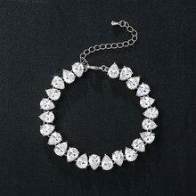 WEIMANJINGDIAN New Arrival Pear Cut Cubic Zirconia Crystal Tennis Bracelet for Women