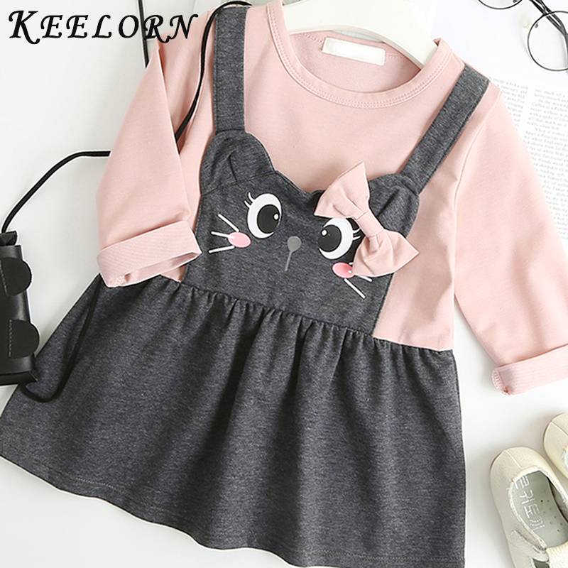 Keelorn Baby Girl Dress 2019 New Autumn baby clothes Fashion princess Dress Newborns Birthday Dresses Girls Clothes Kids