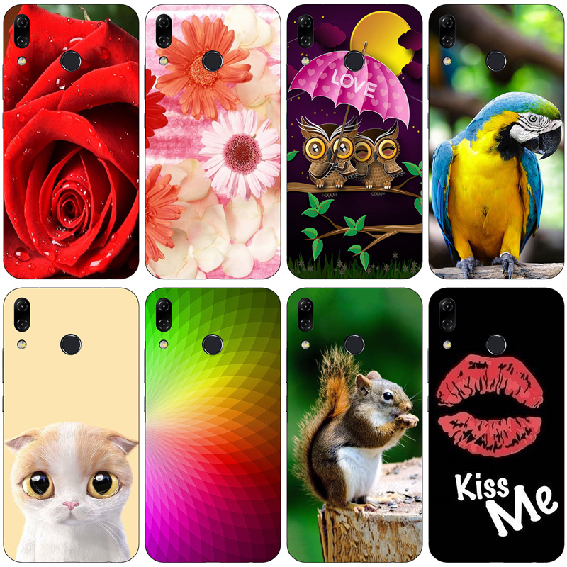 Silicone Printed phone Case for <font><b>Asus</b></font> <font><b>Zenfone</b></font> <font><b>5</b></font> <font><b>ZE620KL</b></font> 5Z ZS620KL cases soft TPU Phone Back cover full 360 Protective shell image