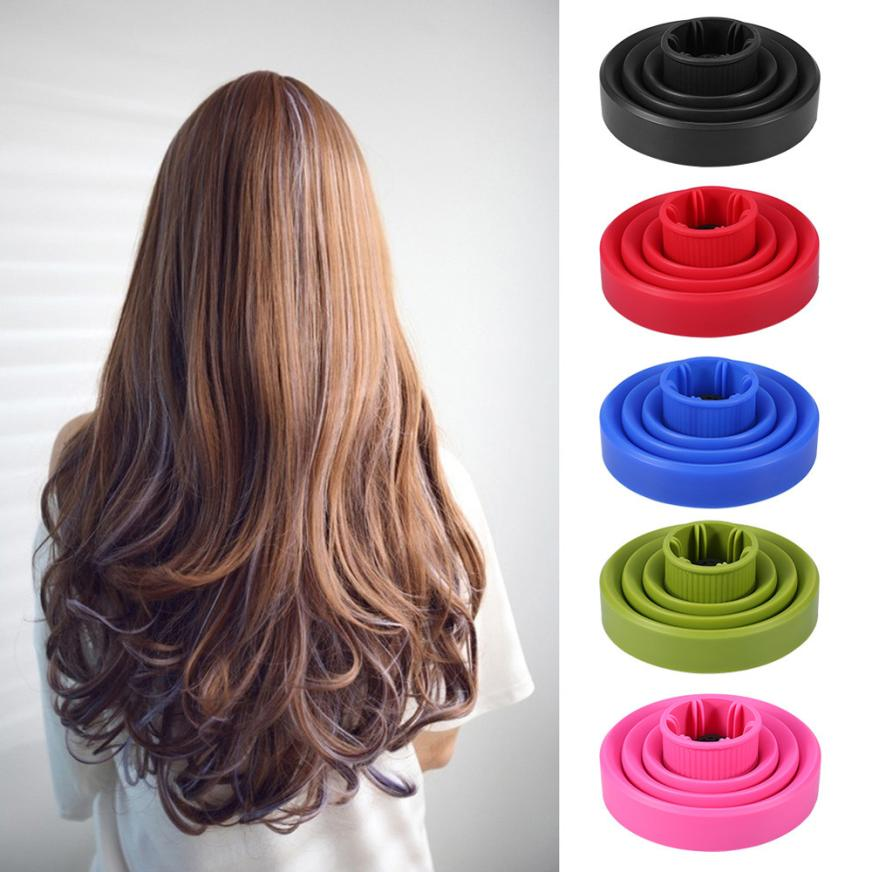 Hairdryer Diffuser Cover High Temperature Resistant Silica Gel Collapsible Hairdryer Accessories Hairdressing Salon Tools