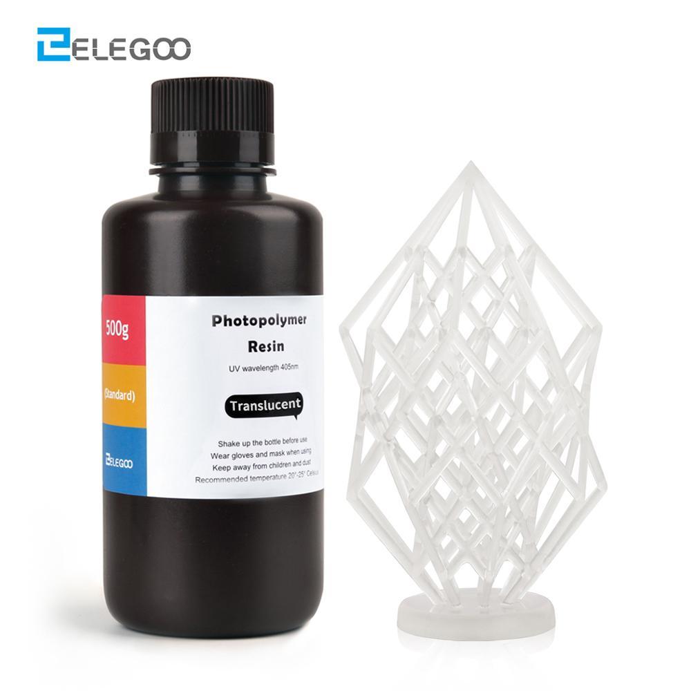 ELEGOO ABS-Like 3D принтер смола ABS-Like стандартная Фотополимерная Смола 500 мл прозрачная жидкокристаллическая УФ-отверждающая Смола 405нм для ЖК-3D пе...