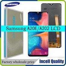 5.8 Incell LCD do Samsung Galaxy A20e A202 A202F A202DS wyświetlacz LCD ekran dotykowy Digitizer zgromadzenie A20e LCD z ramą