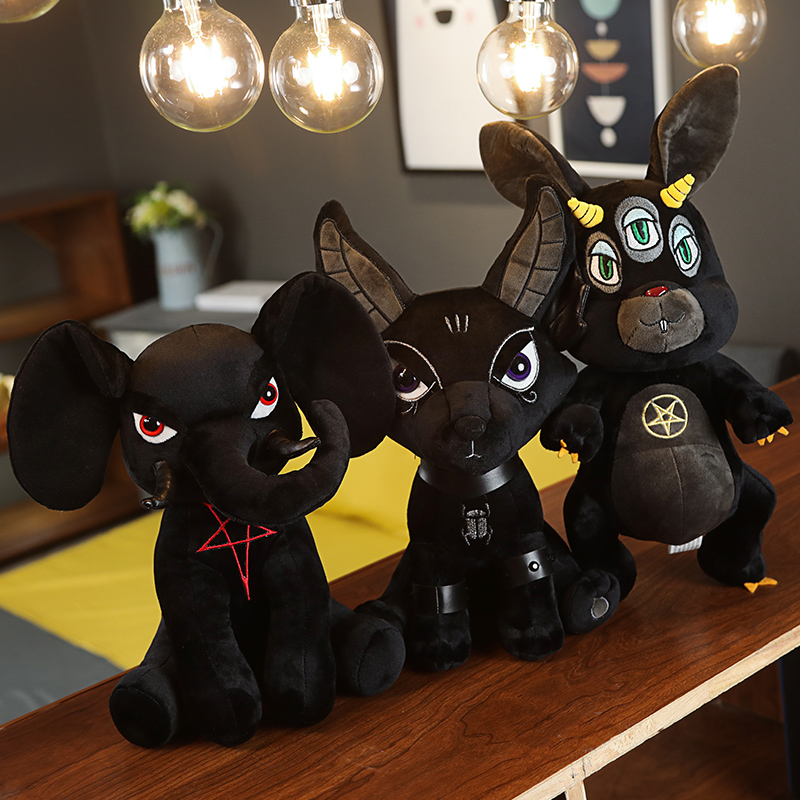 Trendy Dolls Stuffed Animal KILLSTAR Devil Doll Plush Rabbit Black Pentacle Elephant Hydra Anubis Toys Black Doll Birthday Gifts