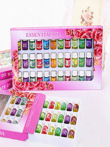 Essential Oils Oil-Humidifier Aroma Diffuser Floral MINI for with 12-Kinds of 36-Bottle-Set