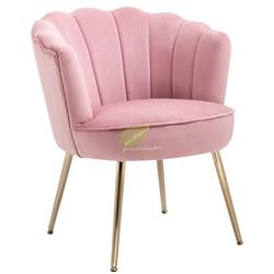 American Style Shell Chair Light Luxury Fabric Single Sofa Living Room Balcony Bedroom Small Flat Simple Leisure Chair Modern