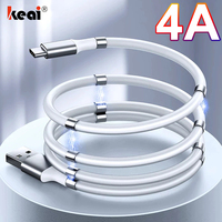 Corda magnetica cavo di sincronizzazione dati a ricarica rapida cavo USB 4A per caricabatterie Micro tipo C per iPhone Samsung Xiaomi Huawei linea dati USB