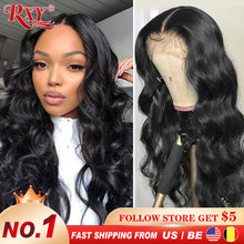 Wig 4x4 Human-Hair-Wigs Lace-Frontal Pre-Plucked Straight Brazilian 13x4/13x6 Remy 180-%