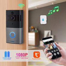 KERUI videoportero inalámbrico Tuya Smart Life, timbre de puerta con WiFi, 2MP, 1080P, cámara de visión nocturna de seguridad para el hogar