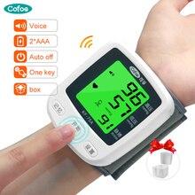 Cofoe бытовой наручный Монитор артериального давления Портативный цифровой Сфигмоманометр для измерения артериального давления и пульса