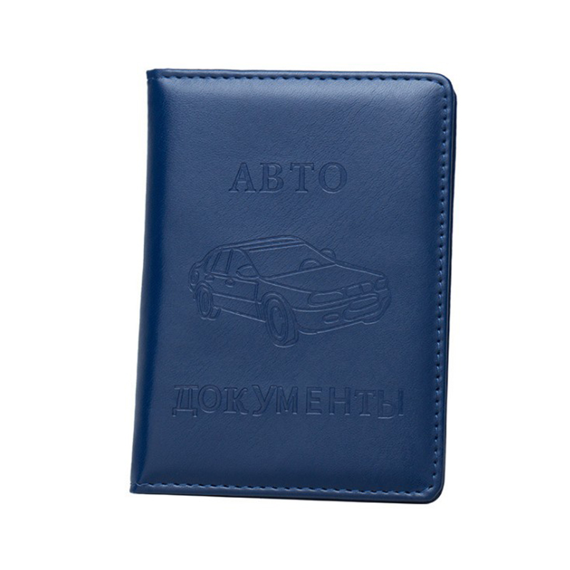 2019 New PU Leather Russian Auto Driver License Bag Cover Unsiex Car Driving Documents Card Credit Holder Case Passport Wallet