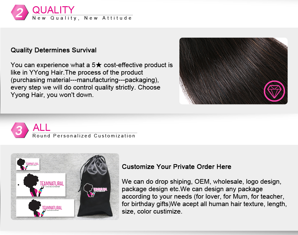 H97fbf583dc5249ba9e00624f07780ba3A Yyong Hair 3 / 4 Brazilian Loose Deep Wave Bundles With Closure 100% Remy Human Hair Weave Bundles With Lace Closure Can Be Dyed