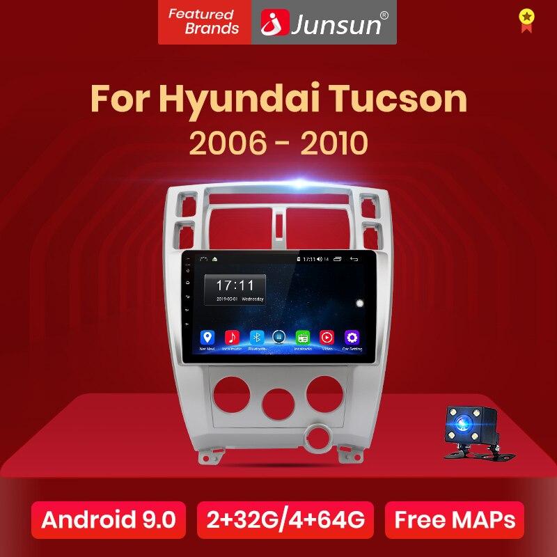 Junsun V1 Android 9,0 2G + 32G DSP auto Radio Multimedia reproductor de vídeo para Hyundai Tucson de 2006-2010 GPS de 2 din
