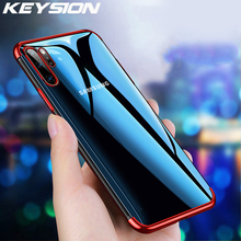 KEYSION Case For Samsung Galaxy Note 10 10 Plus Transparent Plating Cover Soft Silicone Phone Cover for Samsung Note 10+ 10 Plus cover co162 10