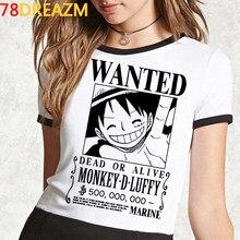 Japoneses nuevos Anime una pieza T camisa de los hombres Kawaii Tops de verano de dibujos animados de Luffy camiseta Hip Hop Harajuku camiseta Unisex Camiseta Hombre