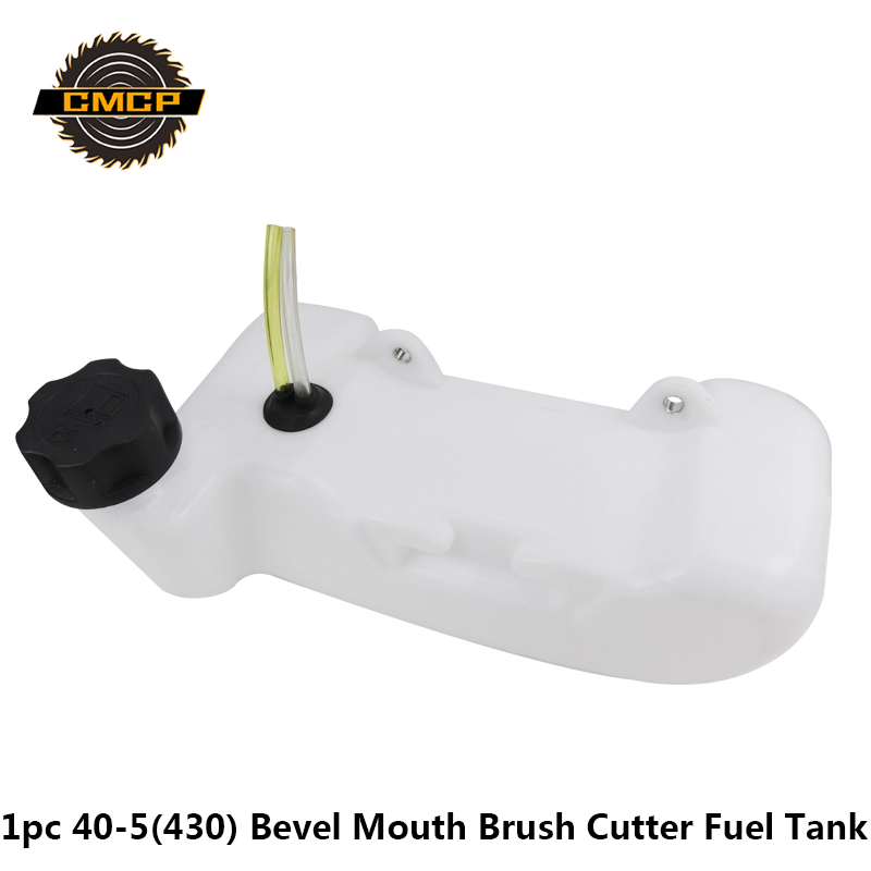 1pc 40-5 43CC Bevel Mouth Brush Cutter Fuel Tank Assy Fit For Lawn Mower Parts Universal Grass Trimmer Plastic Fuel Tank