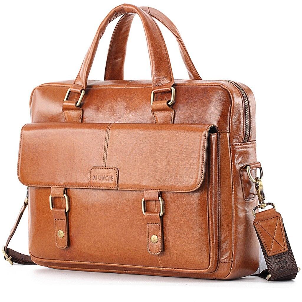 Men Leather Crossbody Bags Men\\'S High Quality Luxury Business Briefcase Messenger Bags Designer Handbags High Quality Bolso