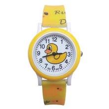 Детские часы с маленькой желтой уткой топ бренд роскошные повседневные