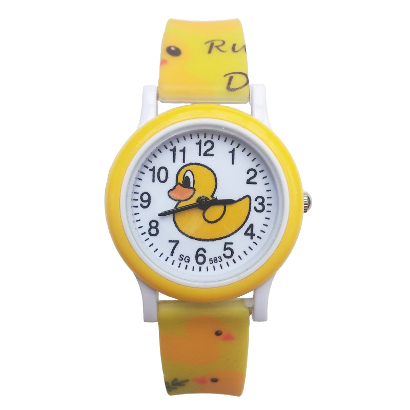 Little Yellow Duck Children Watch Top Brand Luxury Daily Waterproof Kids Watches Boy Students Clock Electronic Quartz Wristwatch