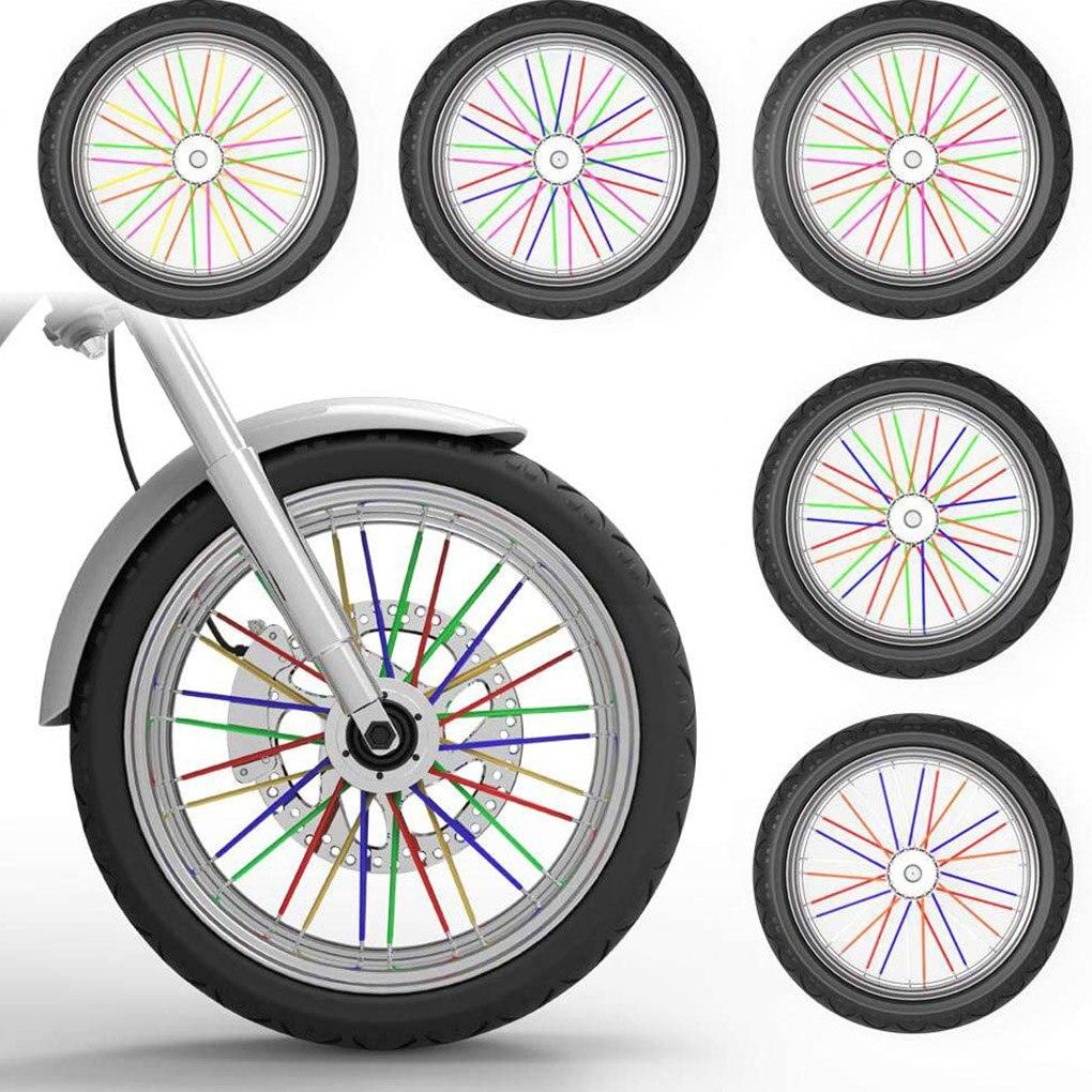 72 шт защитные колпачки на велосипедные и мотоциклетные 9 цветов