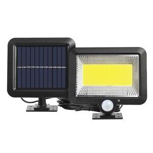 56 светодиодный/100COB/120COB светодиодный светильник на солнечной батарее, наружный датчик движения, водонепроницаемый садовый светодиодный све...