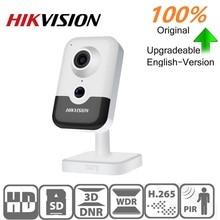 Hikvision orijinal IP Dome kamera DS 2CD2443G0 IW 4MP IR sabit küp WIFI PoE dahili hoparlör dahili mic destek onvif