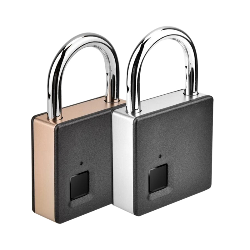 Smart Fingerprint Padlock Stainless Steel Biometric Portable Outdoor Padlock Inteligente Fipilock Dustproof, Waterproof Lock