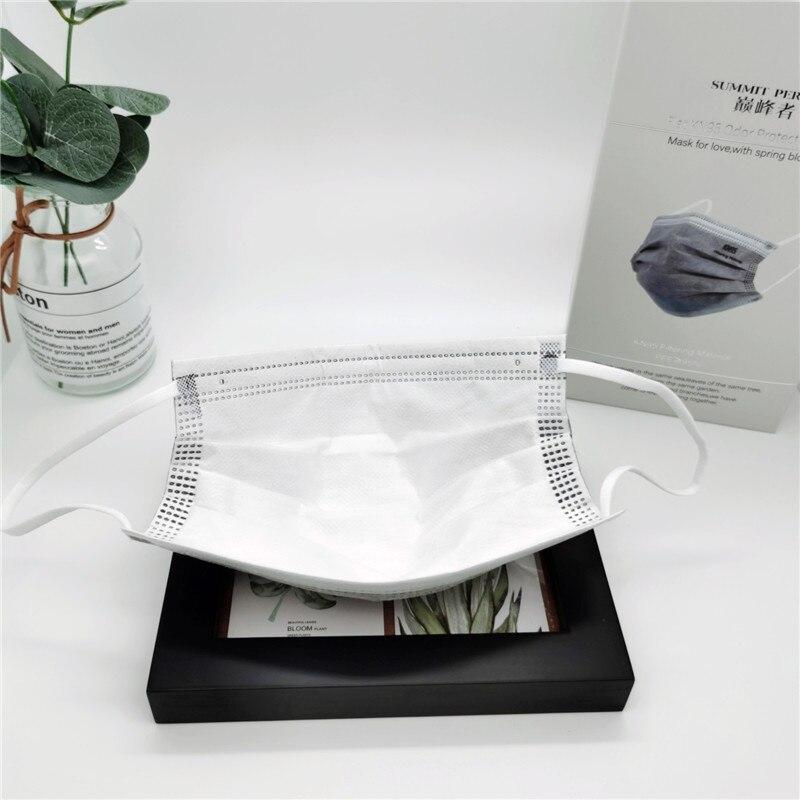 20 pièces/boîte CE KN95 5 couches gris masque charbon actif poussière respirateur visage masque de protection anti-poussière FFP2 coréen KN95 ffp2masque 5