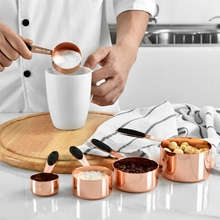 Набор мерных ложек из нержавеющей стали 5 шт. бытовые мерные ложки из розового золота для кухонная форма для самодельной выпечки инструменты различных размеров