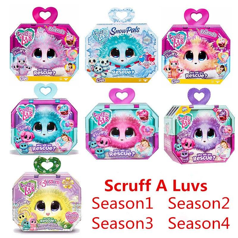 Scruff A Luvse Season 1234 Plush Toy Bath Dog Cat Rabbit Doll Russian Child Gift 3colors Plush Speelgoede Stuffed Animals Stiche