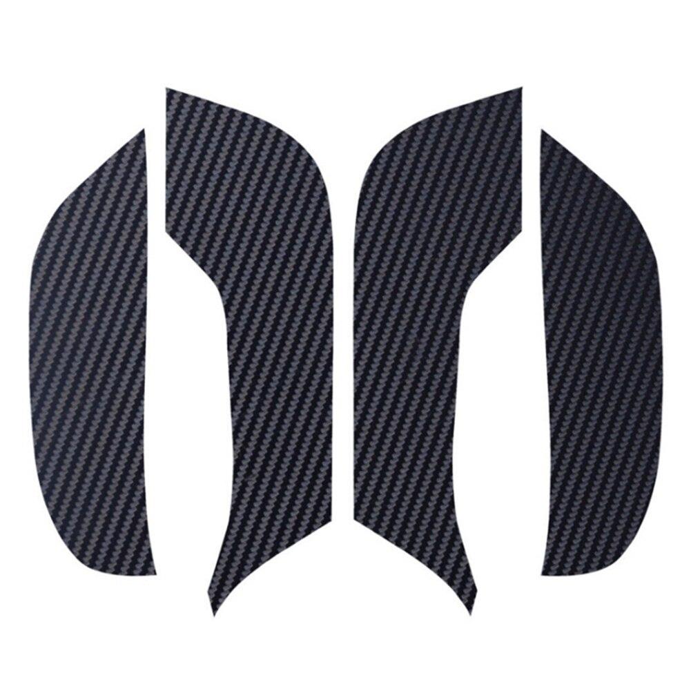 4Pcs Interior Car Professional Door Accessories Styling Anti Kick Mat Pad Protector Carbon Fiber Cover Automobiles Anti Dirty