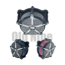цена на Motorcycle Air Cleaner Intake Filter air Filter for Harley Sportster Road King Gliding Softtail Dyna Touring Street Glide RSD