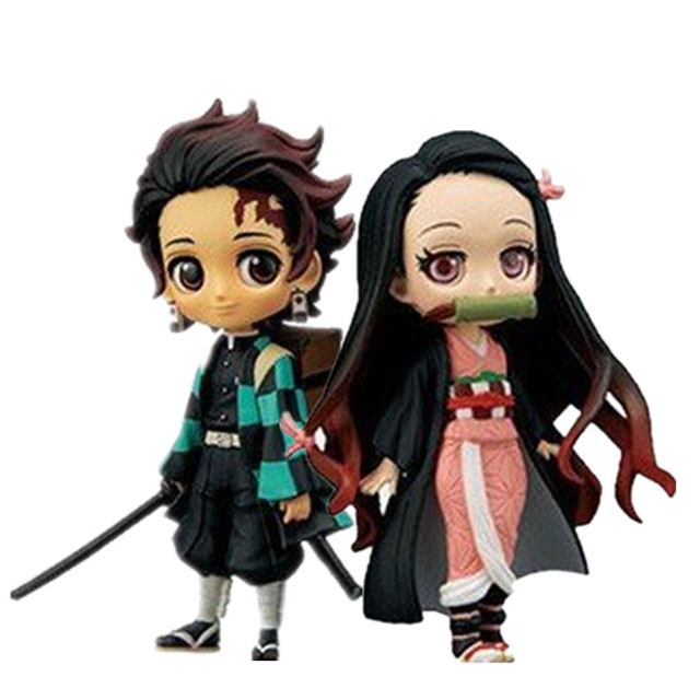 Demon Slayer Kimetsu no Yaiba Tanjirou Giyuu Inosuke Nezuko Figure PVC Model Toy Demon Slayer Figure Anime Cute Toys Brinquedos
