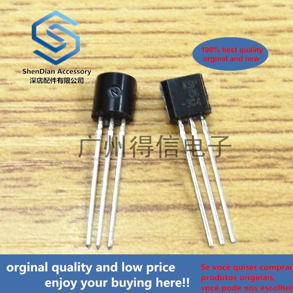 30pcs 100% Orginal New KSP06 A06 TO-92 NPN EPITAXIAL SILICON TRANSISTOR Real Photo