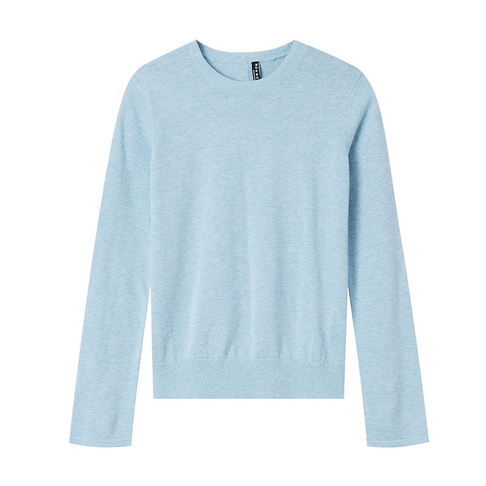 Image 5 - Metersbonwe 2019 Cotton Knitted Sweater Women Pullovers O neck  Autumn Winter Basic Women Sweaters Korean Style Slim FitPullovers   -
