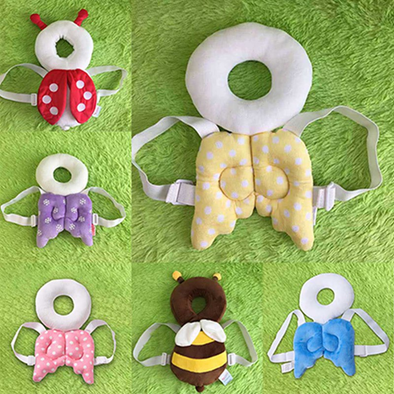 New Style Baby Head Protection Pad Infant Toddler Protective Headrest Cute Angel Child Safety Hat Fenders Drop Pad