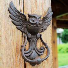 Sturdy Easy Install Pull Removable Shed Home Owl Shape Decoration Durable Screw Fasten Cast Iron Vintage Cafe Door Handle