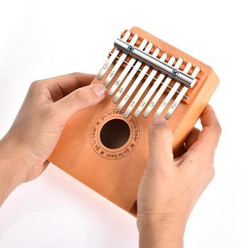 10 klawiszy drewniany kciuk palec fortepian Kalimba Instrument muzyczny dzieci dzieci zabawki 10 dźwięk drewno sosnowe kciuk fortepian muzyka dla dzieci tanie i dobre opinie Beginner Pianino Kalimba Thumb piano Other 11-50 16x11x5cm Support