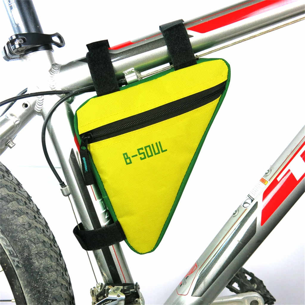 Bike Bicycle Frame Cycling Tube Bag Front Tube Phone Waterproof Bicycle Bags Triangle Pouch Frame Holder Bycicle Accessories