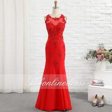 Bbonlinedress красные платья для выпускного вечера с юбкой годе