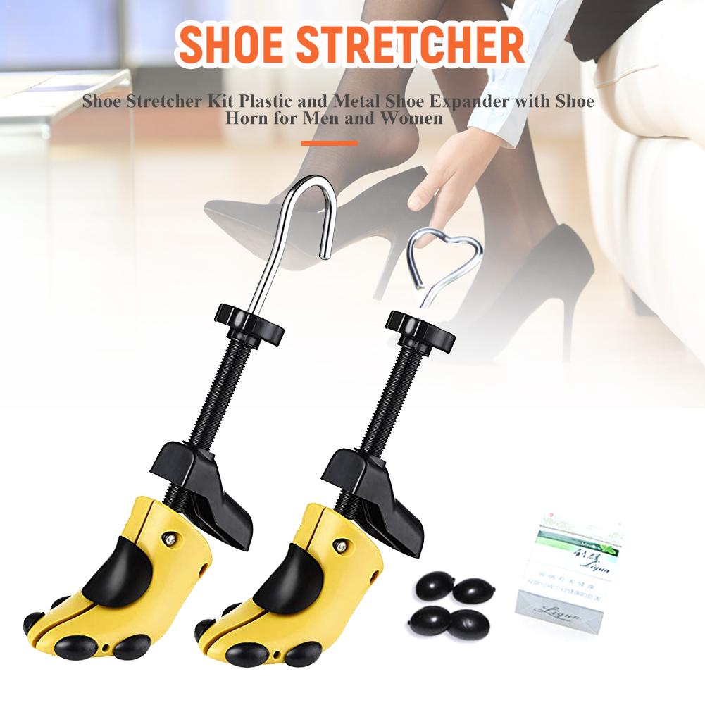 Unisex Men Womens 1pcs Shoe Stretcher Plastic Adjustable Shoes Stretcher Heels Boots Trees Shaper Expander Size 34-41