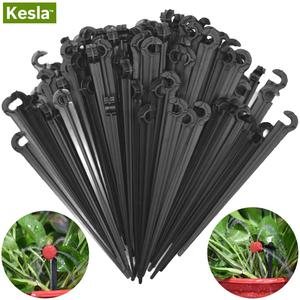 50PCS Durable 1/4'' C-type Hook Fixed Stem Support Holder Stakes for 4/7mm Hose Drip Irrigation Fitting Watering Dripper Emitter(China)