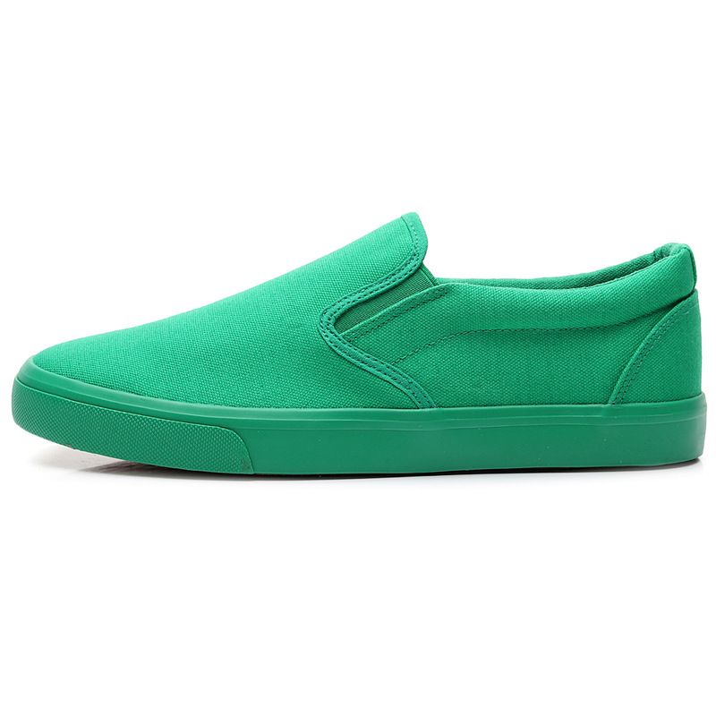 New Canvas Driving Shoes Men Green Black Yellow White Vulcanized Lazy Canvas Shoes Mens Designer Sneakers Fashion Men