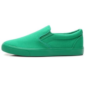 Nuevos zapatos de lona para conducir para hombres, verde, negro, amarillo, blanco, vulcanizado, zapatos de lona perezosos, tenis de diseñador para hombre, moda para hombres