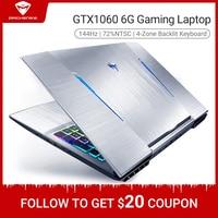 Machenike T90 T6C i7 GTX1060 Gaming Laptop 2020 Intel core i7 8750H GTX1060 8GB 256G 15.6'' 144Hz 72%NTSC RGB Keyboard notebook