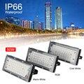Светодиодный прожектор 50 Вт наружное прожекторное освещение AC220V профессиональный фонарь уличного освещения Водонепроницаемый IP65 теплый б...