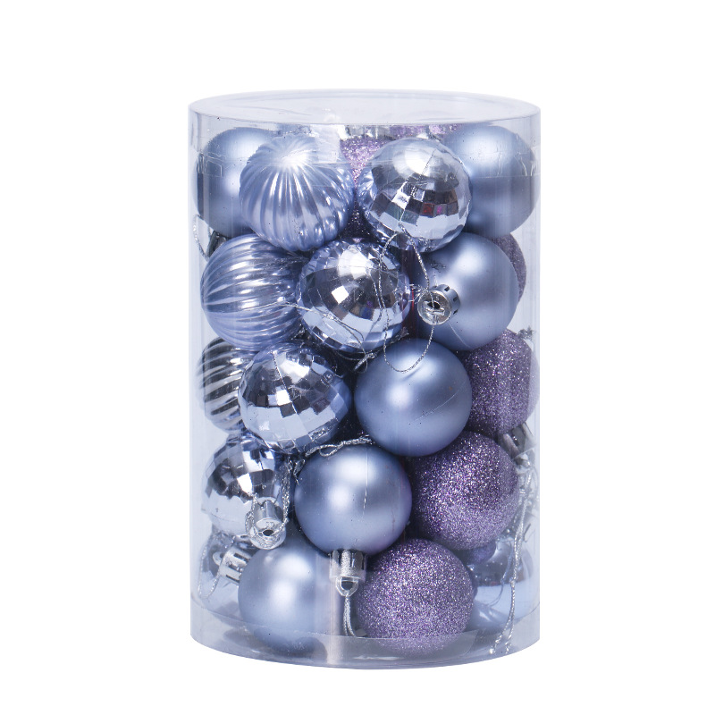 34PCS Christmas Tree Plastic Decor Ball Shatterproof Ornaments Pendants Hanging