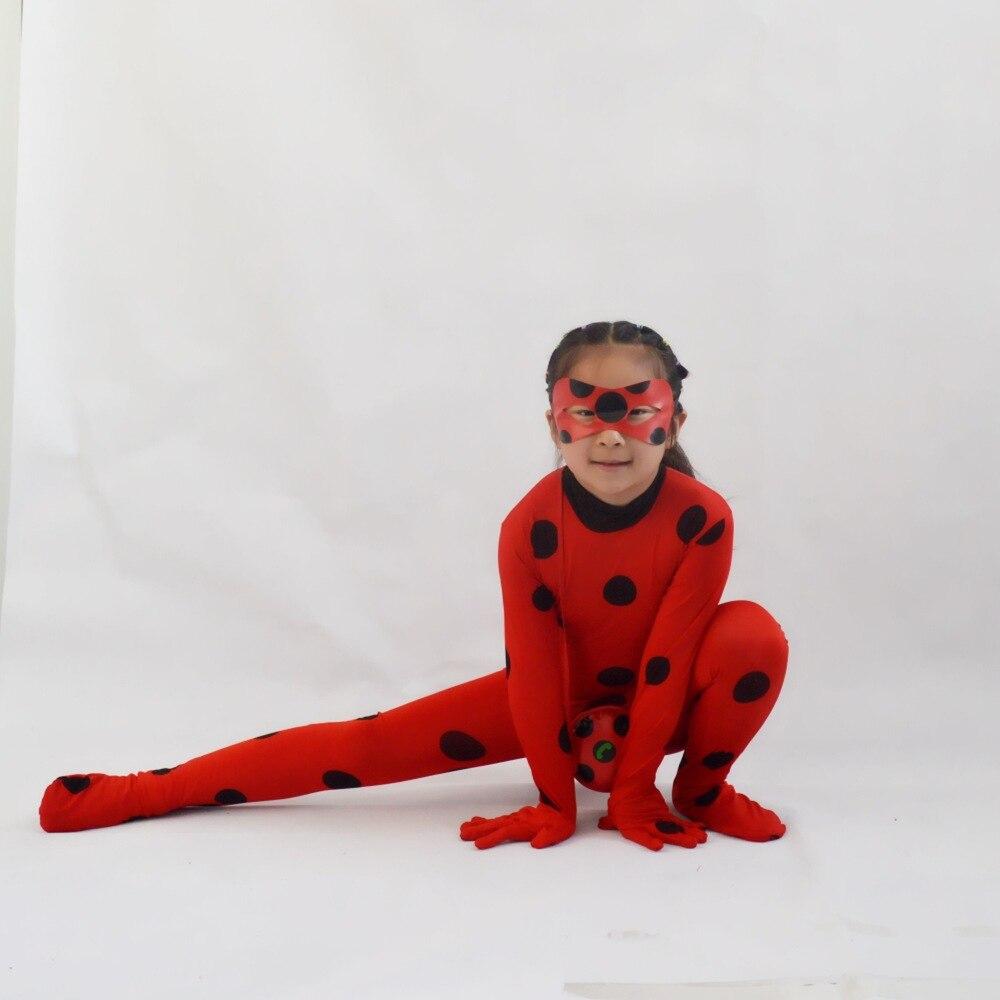 Bayan cos hata kız kostüm Fantasia çocuk yetişkin bayan cos böcek kostümleri kadın çocuk Spandex tulum fantezi cadılar bayramı Marinette peruk